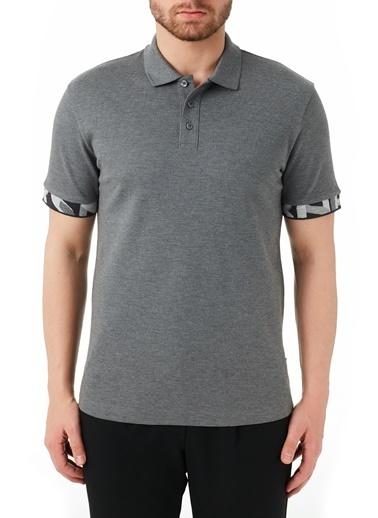 Hugo Boss  % 100 Pamuklu Polo T Shirt Erkek Polo 50448741 030 Gri